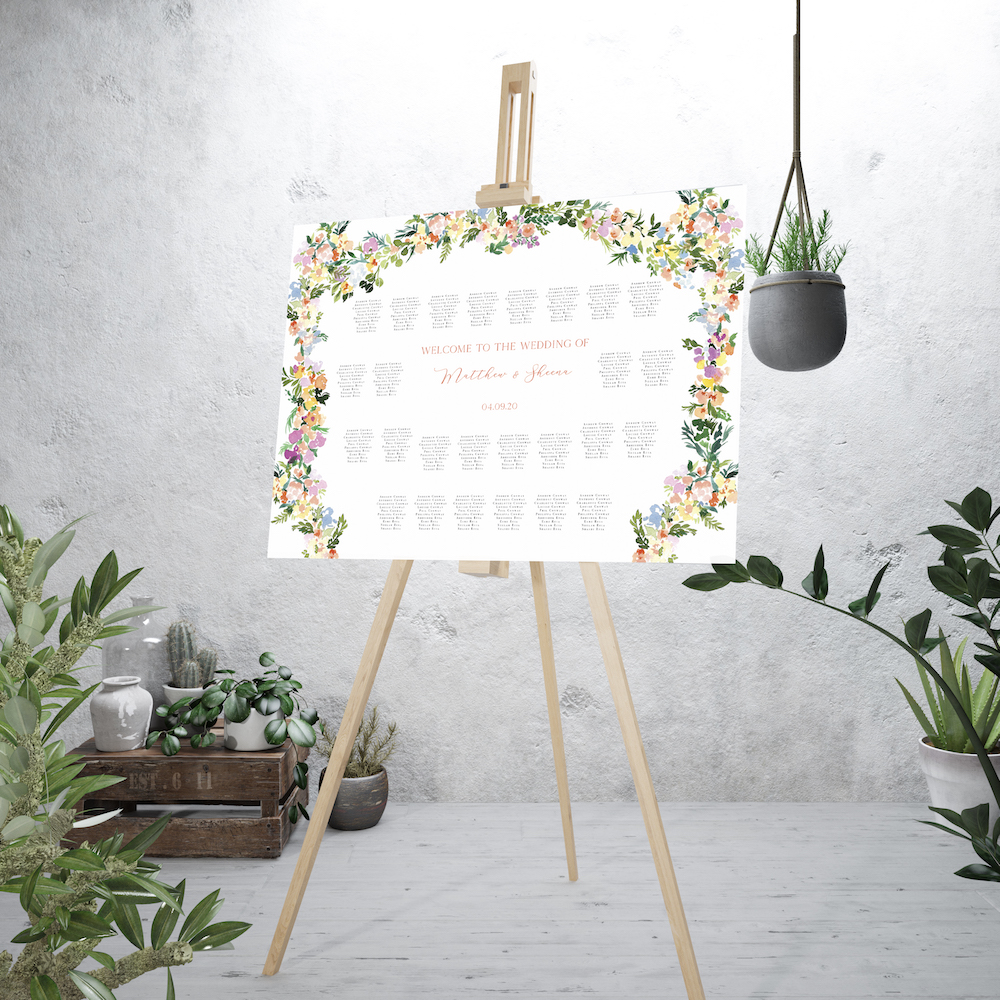 Floral Arch table plan - Atelier Papel