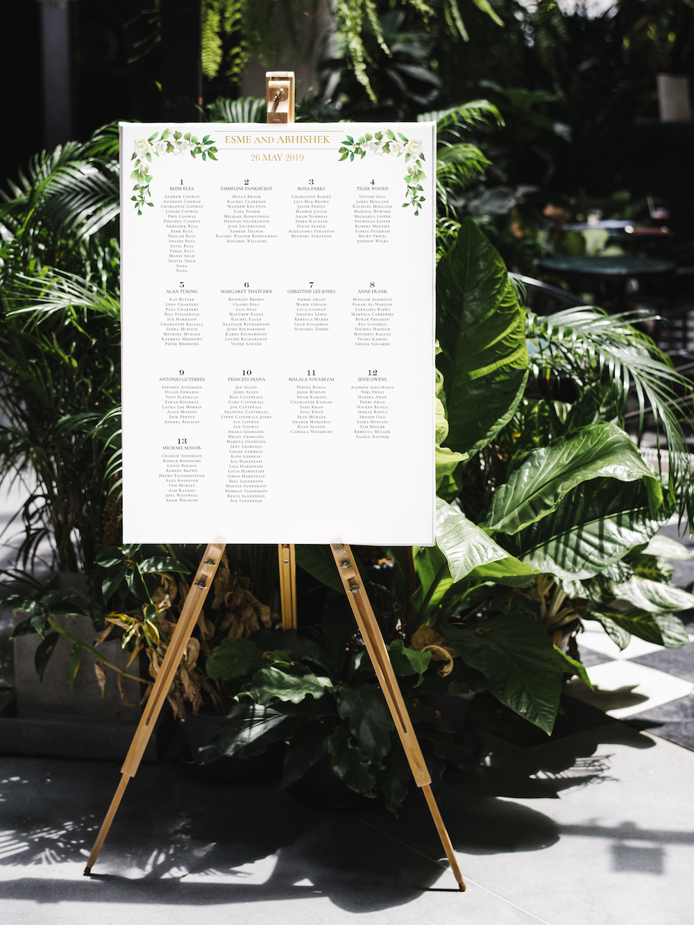 Foliage corner table plan - Atelier Papel