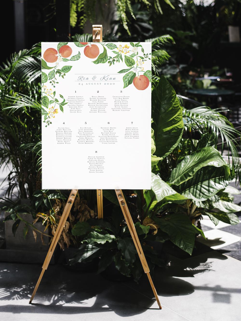 Saville table plan - Atelier Papel