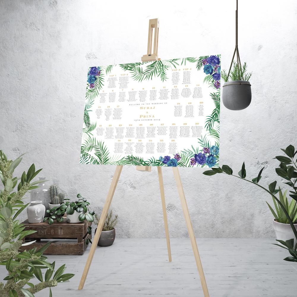 Tropical garden table plan - Atelier Papel