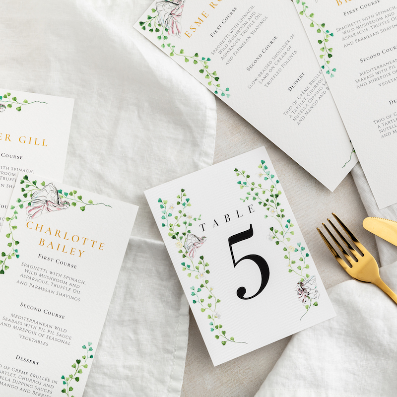 Midsummer nights dream table number - Atelier Papel