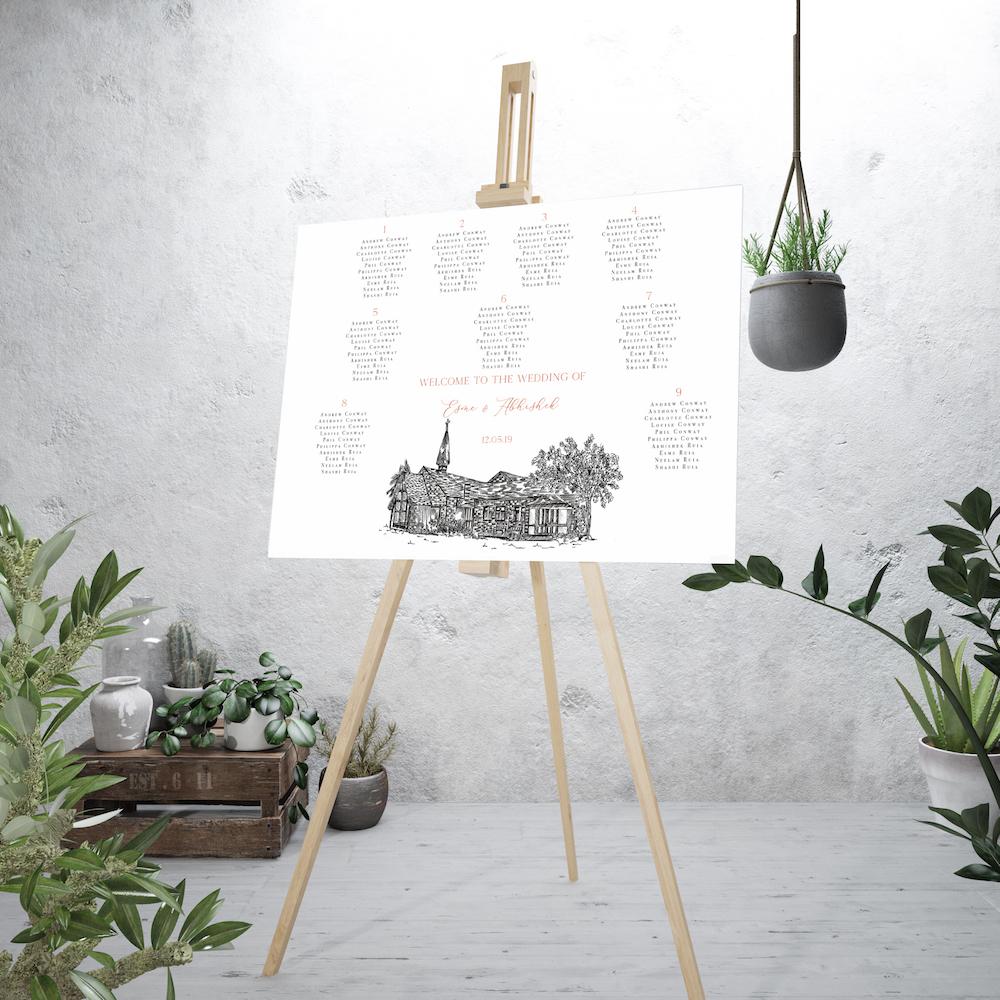 Venue placement table plan - Atelier Papel